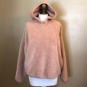 F21 teddy bear hoodie